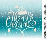 merry christmas. christmas... | Shutterstock .eps vector #223802836