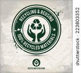 alternative recycling and... | Shutterstock .eps vector #223803352
