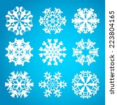 snowflake icon. winter theme.... | Shutterstock .eps vector #223804165