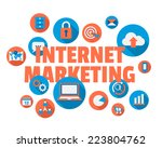 online marketing concept... | Shutterstock .eps vector #223804762