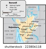 burundi country map | Shutterstock .eps vector #223806118