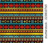 tribal art ethnic seamless... | Shutterstock . vector #223810765