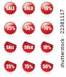 sales stickers | Shutterstock .eps vector #22381117