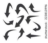 set of arrow icon | Shutterstock .eps vector #223813996