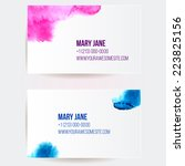 set of two creative business... | Shutterstock .eps vector #223825156