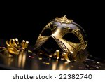 Holiday background; elegant carnival mask - stock photo