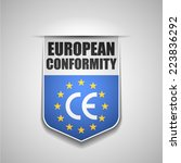 european conformity | Shutterstock .eps vector #223836292