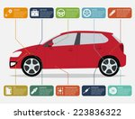 infographic template with car... | Shutterstock .eps vector #223836322