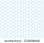 Seamless Blue Hexagonal Floral...