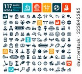 fitness and sport vector icons... | Shutterstock .eps vector #223842385
