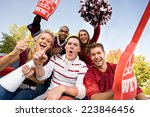 tailgate  group of fans... | Shutterstock . vector #223846456