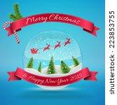 merry christmas glass snow ball ...