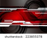 abstract technology background... | Shutterstock .eps vector #223855378
