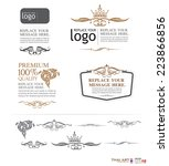 vector set  thai art design... | Shutterstock .eps vector #223866856