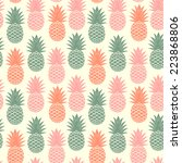vintage pineapple seamless for... | Shutterstock .eps vector #223868806