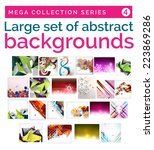 mega set of abstract...   Shutterstock .eps vector #223869286