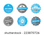 guarantee  quality and best... | Shutterstock .eps vector #223870726