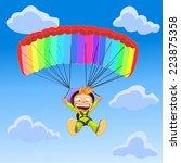 vector illustration boy plans... | Shutterstock .eps vector #223875358