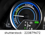 close up shot of hybrid car... | Shutterstock . vector #223879672