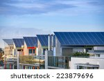 Details of the Sunship in green City, Freiburg. The solar sunship is in the solar village Vauban in Freiburg, Black Forest, Germany. It is known for its use of alternative and renewbale energy. - stock photo