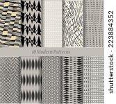 patterns set. design elements....   Shutterstock .eps vector #223884352