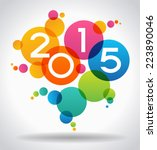 vector 2015 happy new year... | Shutterstock .eps vector #223890046