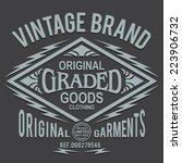 vintage typography denim  t... | Shutterstock .eps vector #223906732