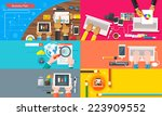 creative team. young design... | Shutterstock . vector #223909552