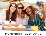 female friends taking selfie... | Shutterstock . vector #223914472