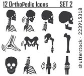 12 orthopedic and spine symbol... | Shutterstock .eps vector #223915318