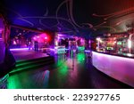 Stock photo colorful interior of bright and beautiful night club 223927765