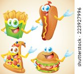 fast food character set | Shutterstock . vector #223927996
