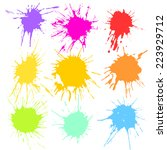 paint splash. | Shutterstock .eps vector #223929712