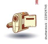 camcorder icon  vector...   Shutterstock .eps vector #223929745