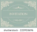 retro invitation or wedding... | Shutterstock .eps vector #223933696