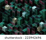 cubes abstract background with... | Shutterstock . vector #223942696