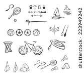 sports equipment | Shutterstock .eps vector #223949242