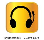 headphone for support or service | Shutterstock .eps vector #223951375