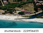 aerial view of budoni beach ... | Shutterstock . vector #223956655
