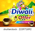colorful diwali sale background ... | Shutterstock .eps vector #223971892
