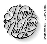 happy new year  lettering... | Shutterstock .eps vector #223975288