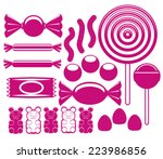 vector set of different cartoon ... | Shutterstock .eps vector #223986856