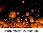 floating lantern at chiang mai... | Shutterstock . vector #224004886