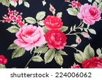 vintage floral fabric | Shutterstock . vector #224006062