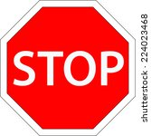 traffic stop sign vector | Shutterstock .eps vector #224023468