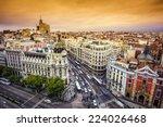 madrid  spain cityscape above... | Shutterstock . vector #224026468