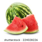 Fresh Juicy Watermelon On The...