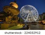 Ferris Wheel At Twilight In...