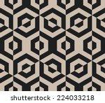 seamless vector geometric... | Shutterstock .eps vector #224033218