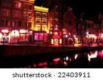 Red Light District By Night In...